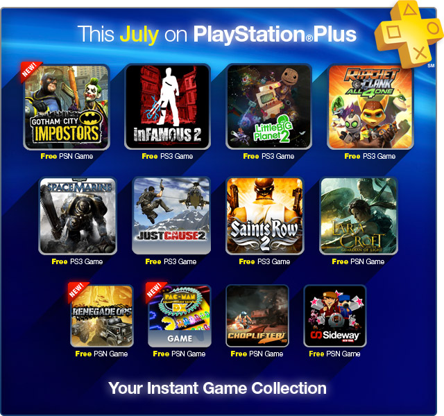 PS Plus July